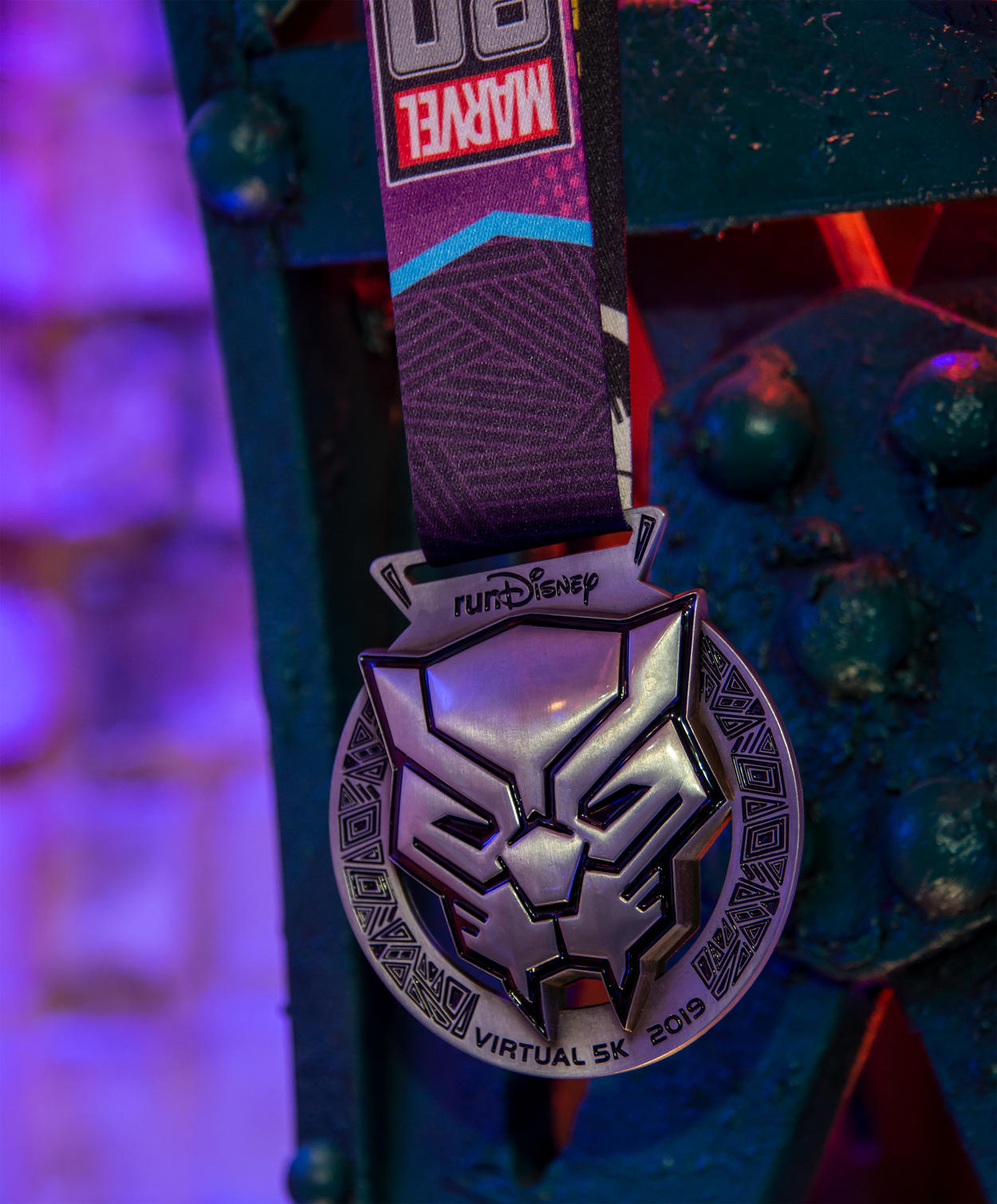 Black Panther runDisney medal