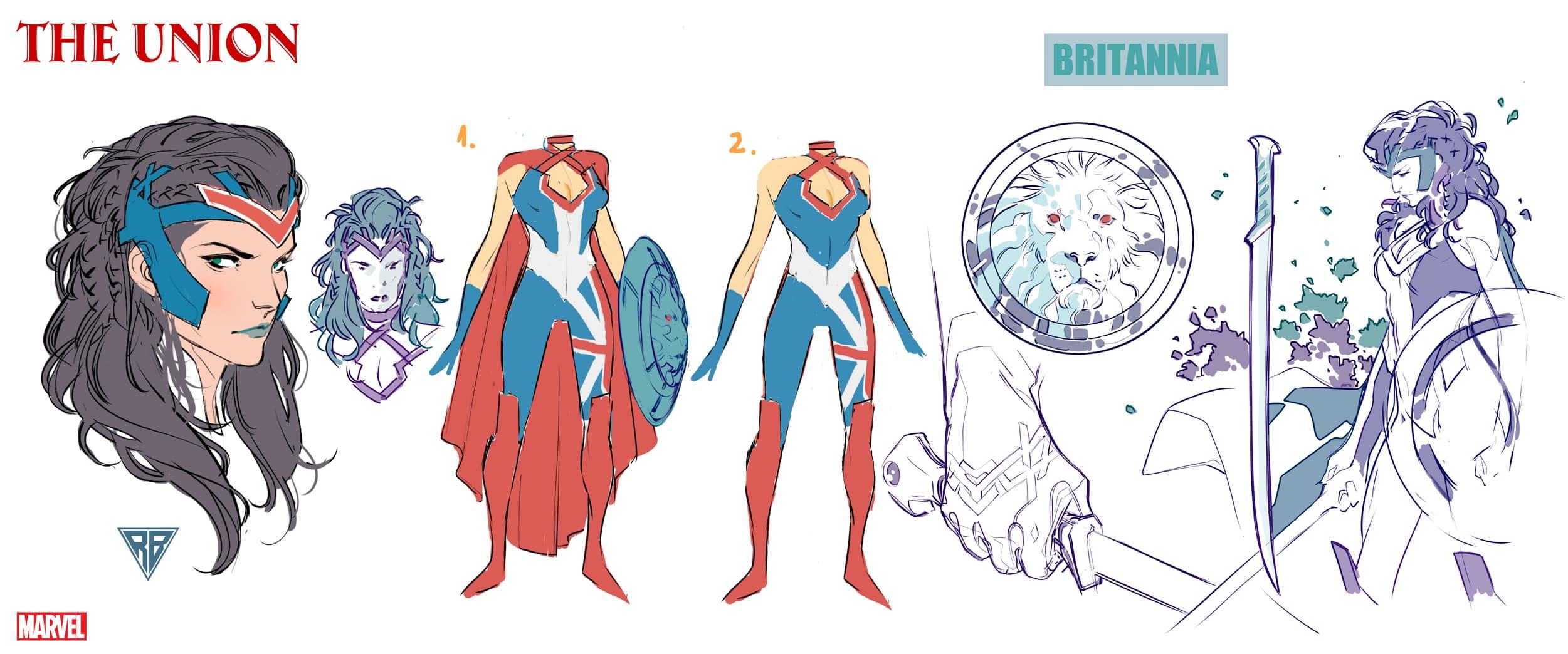 Britannia character design by R.B. Silva