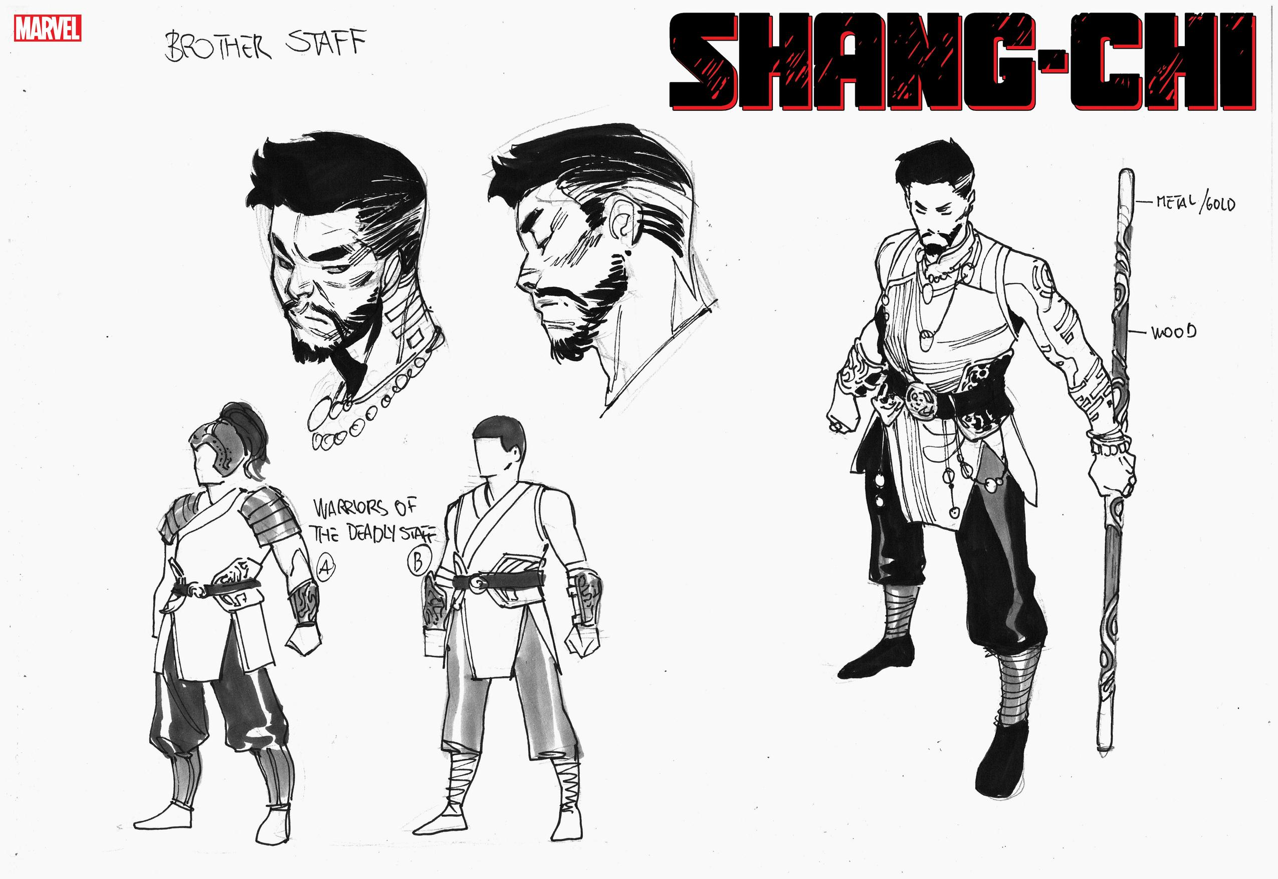 Shang-Chi Brother Staff character design