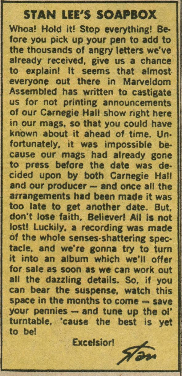 Stan's Soapbox July 1972