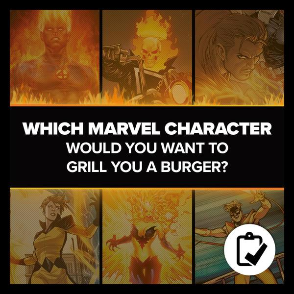Marvel Insider Survey Which Marvel Character would you want to grill you a burger?