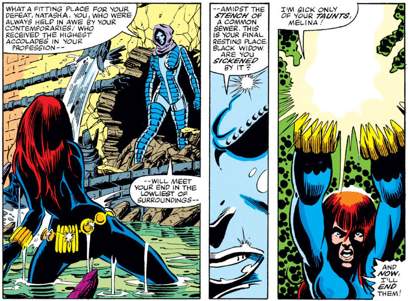 Black Widow confronts Iron Maiden