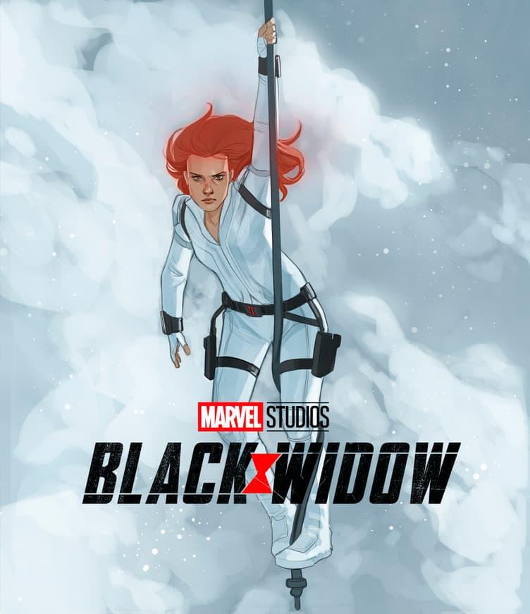 'Black Widow' Blu-ray Cover Art by Phil Noto