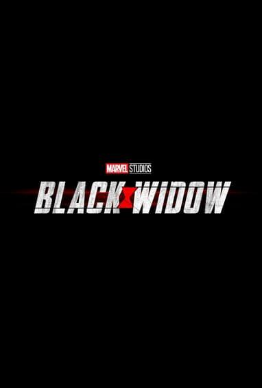 Black Widow Movie Logo On Black