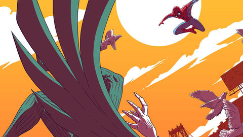 Image for Spider-Man Vs. Vulture Screen Printed Poster