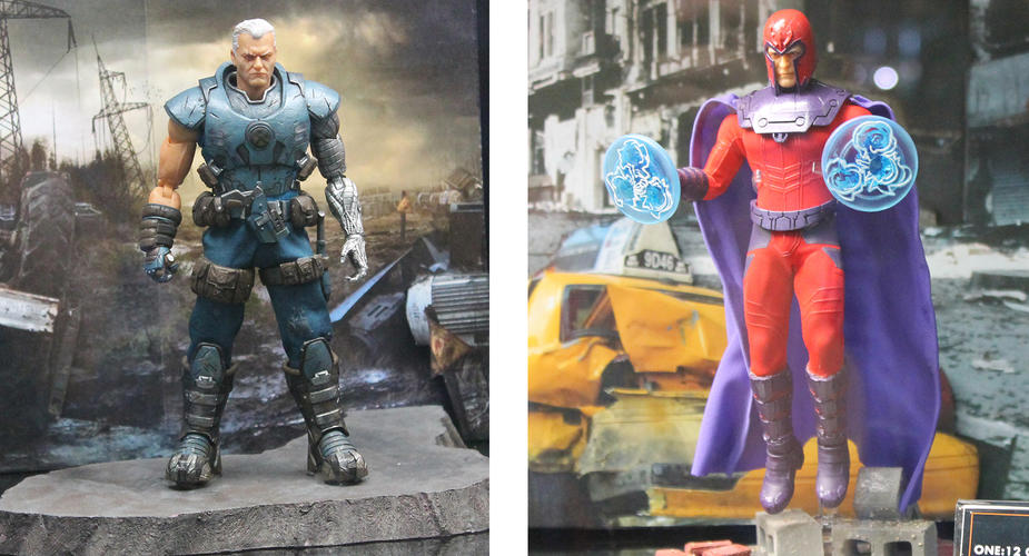 Cable and Magneto figures