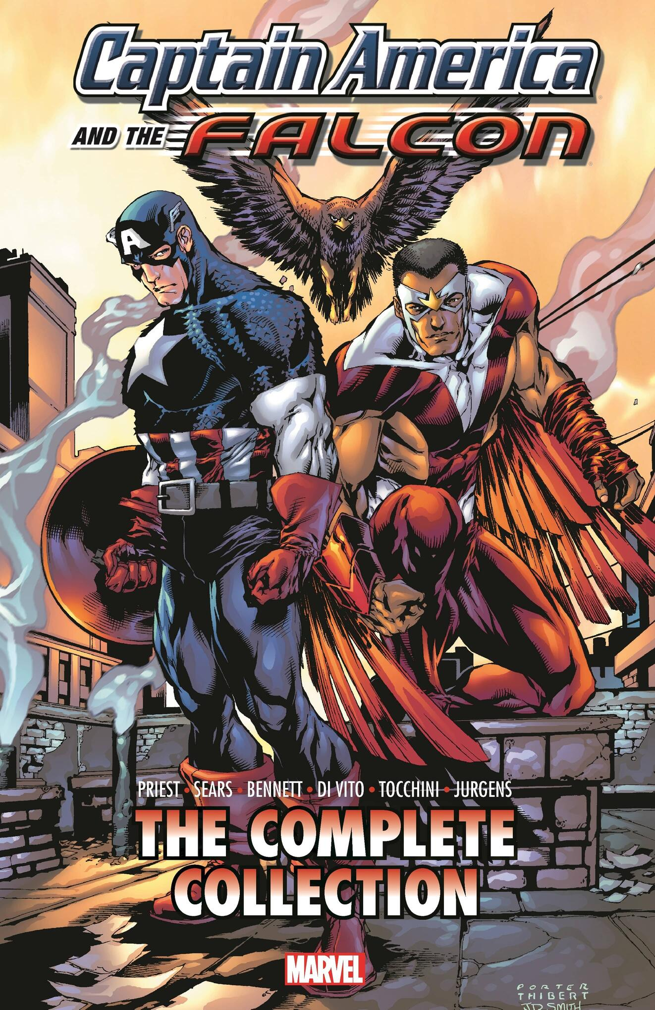 Cover to CAPTAIN AMERICA & THE FALCON BY CHRISTOPHER PRIEST: THE COMPLETE COLLECTION.