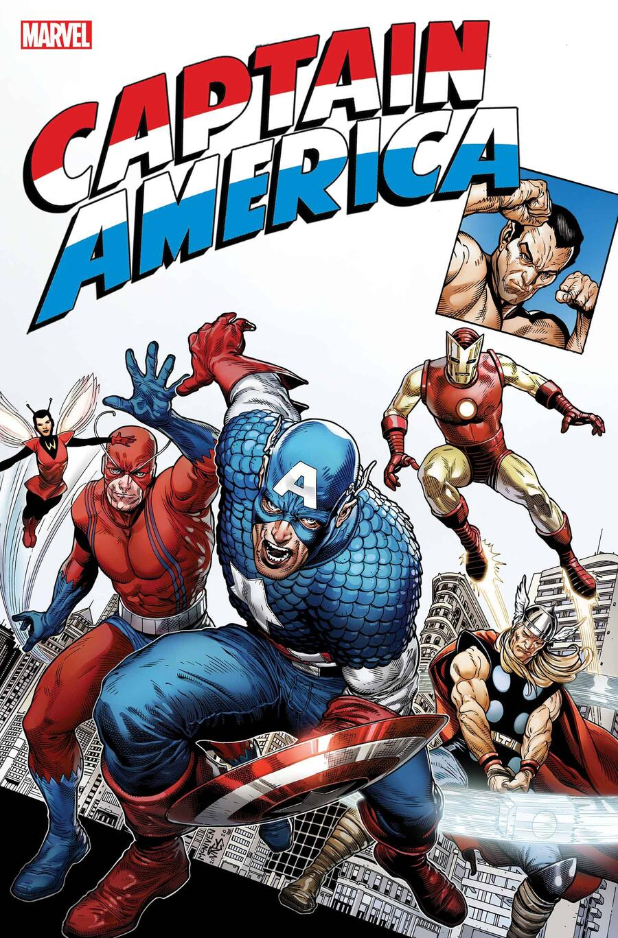 CAPTAIN AMERICA TRIBUTE #1 cover by Steve McNiven