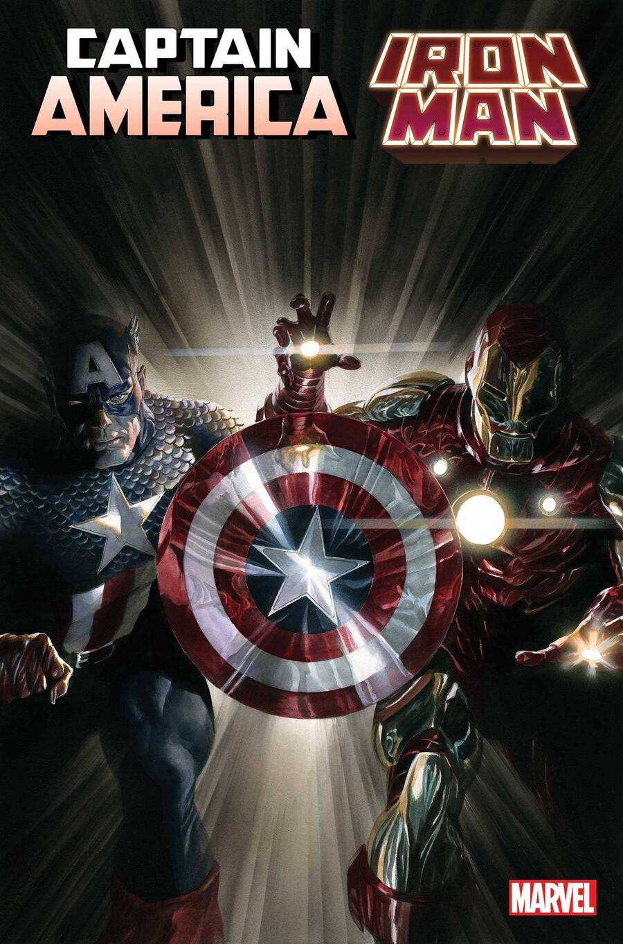 CAPTAIN AMERICA/IRON MAN #1 cover by Alex Ross