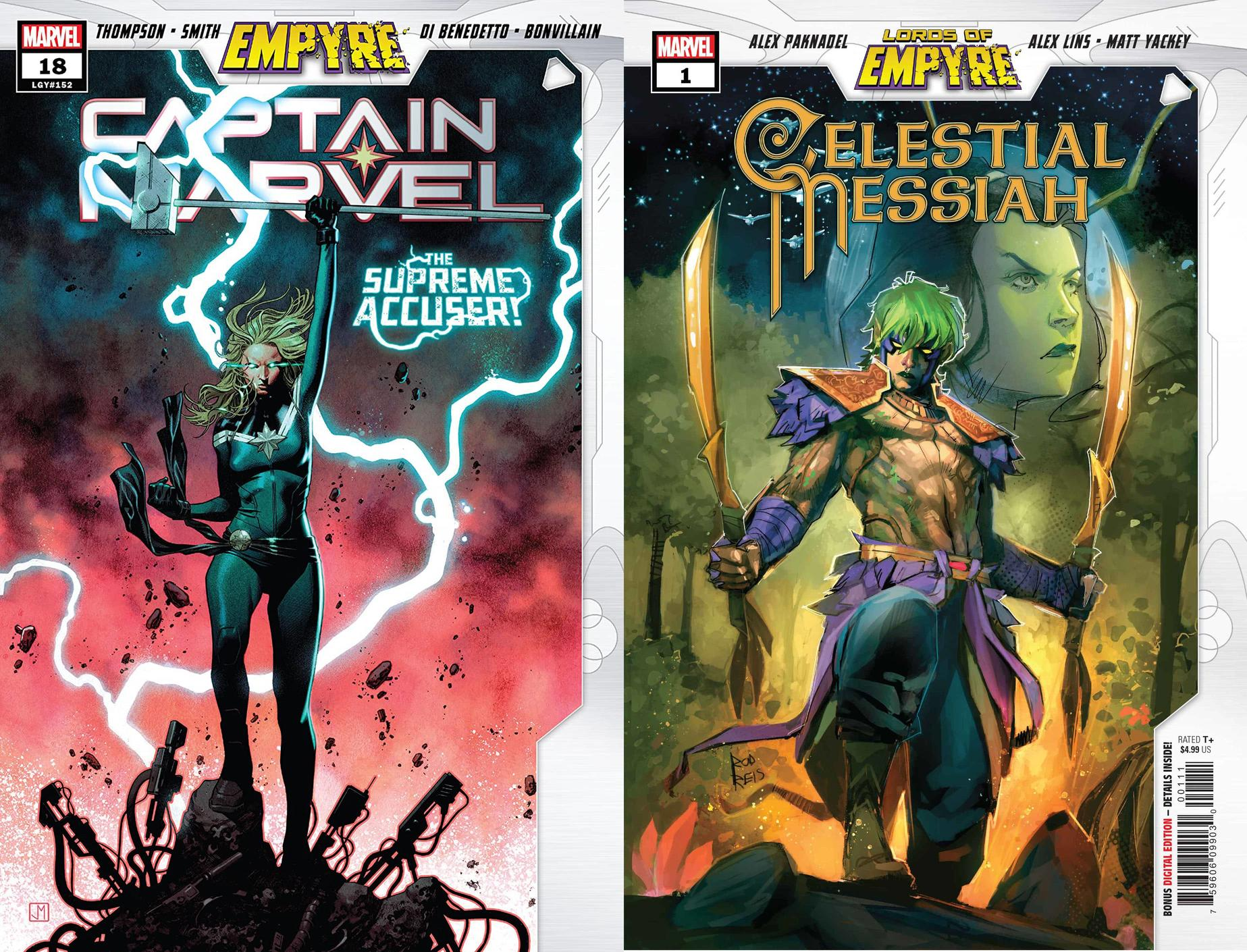 Captain Marvel #18 and Celestial Messiah