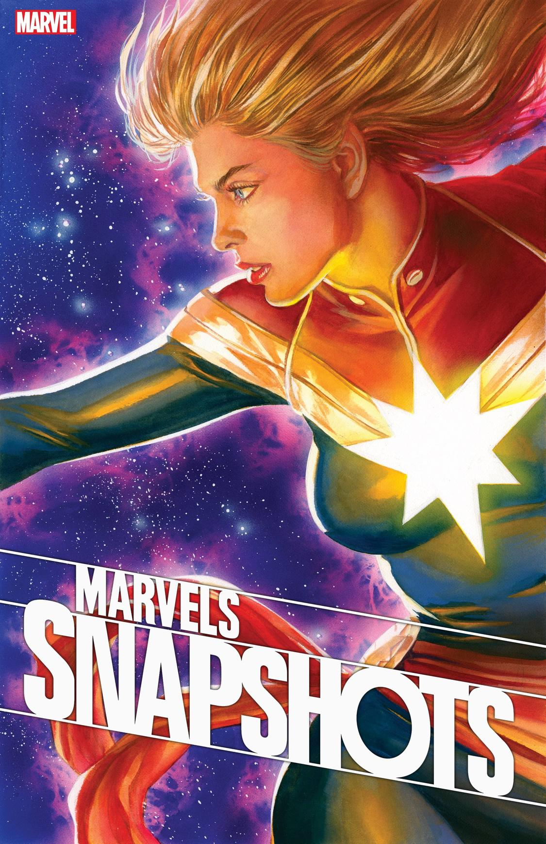 Marvels Snapshots: Captain Marvel #1 written by Mark Waid with art by Colleen Doran and cover by Alex Ross