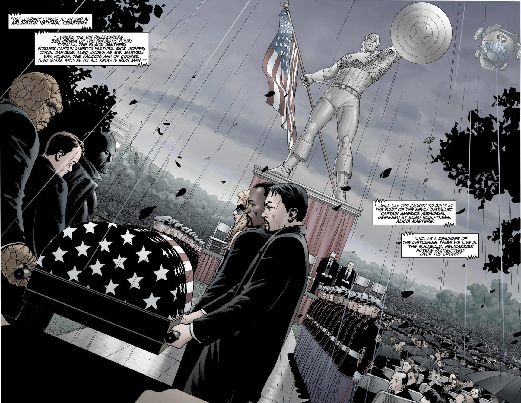 Captain America funeral