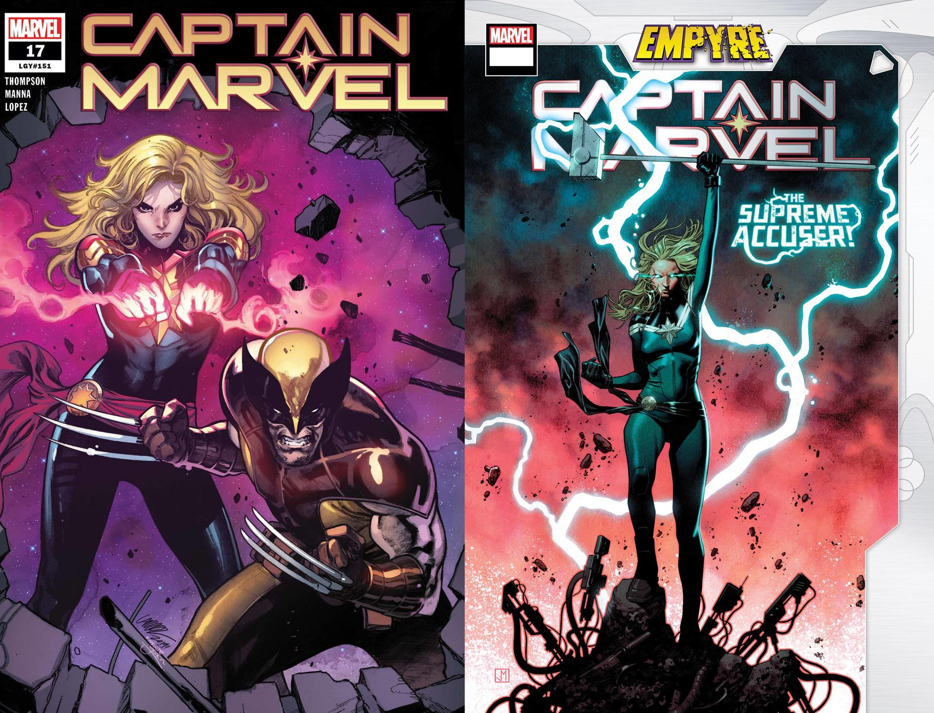 Captain Marvel #17 and #18