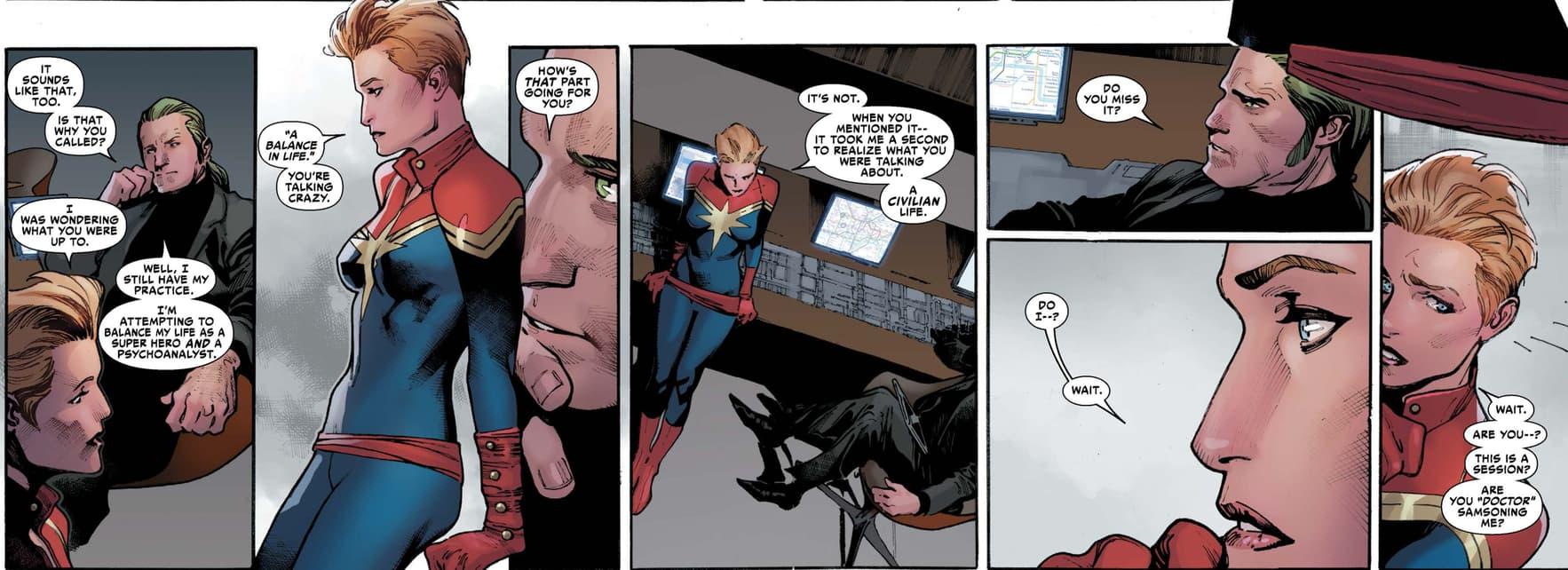 Captain Marvel with Doc Samson