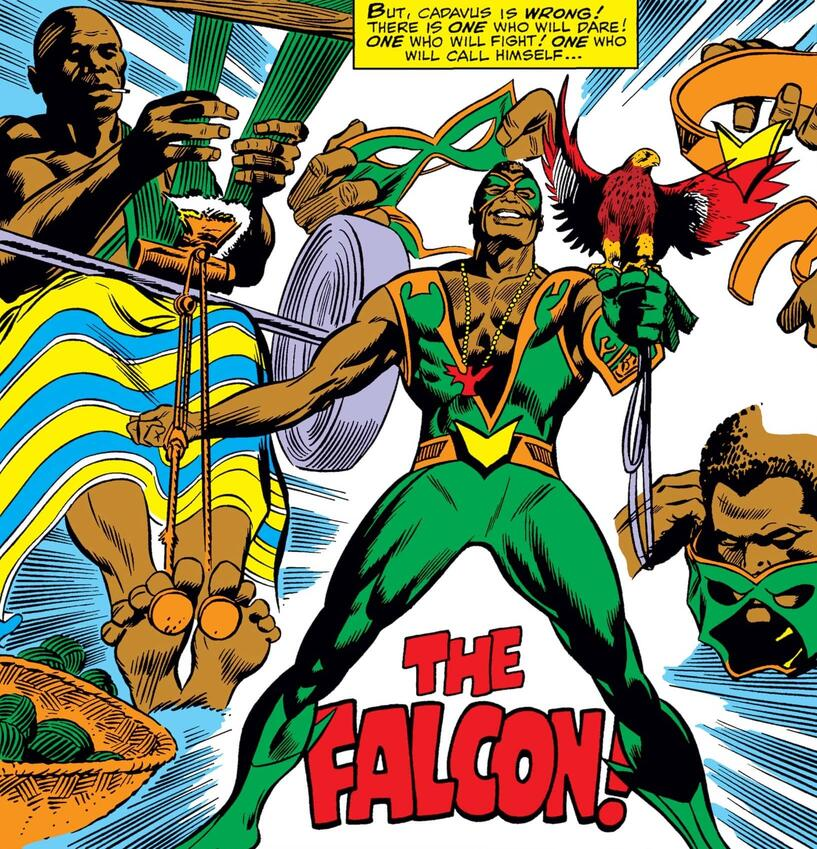 The first appearance of Falcon in CAPTAIN AMERICA (1968) #117.