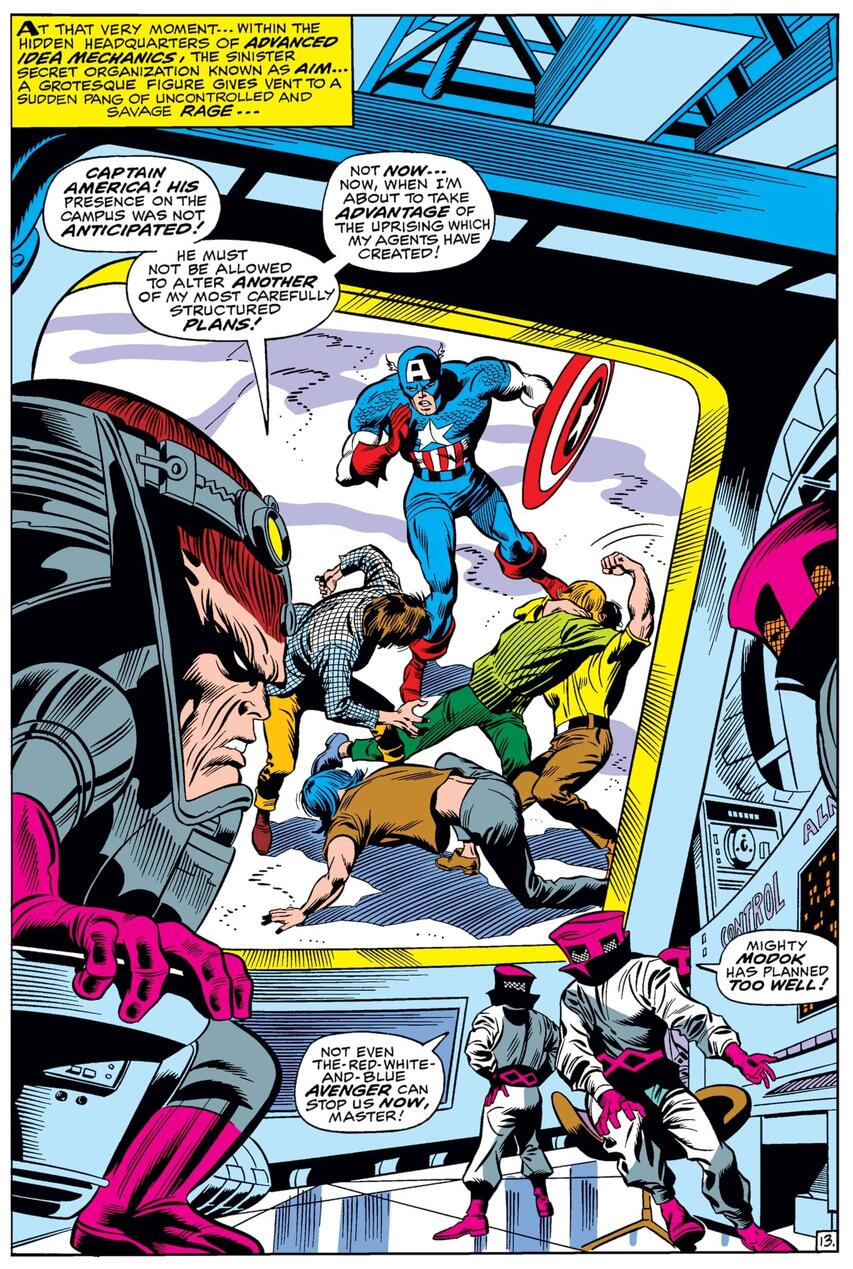 Captain America incontra MODOK in CAPTAIN AMERICA (1968) # 120.