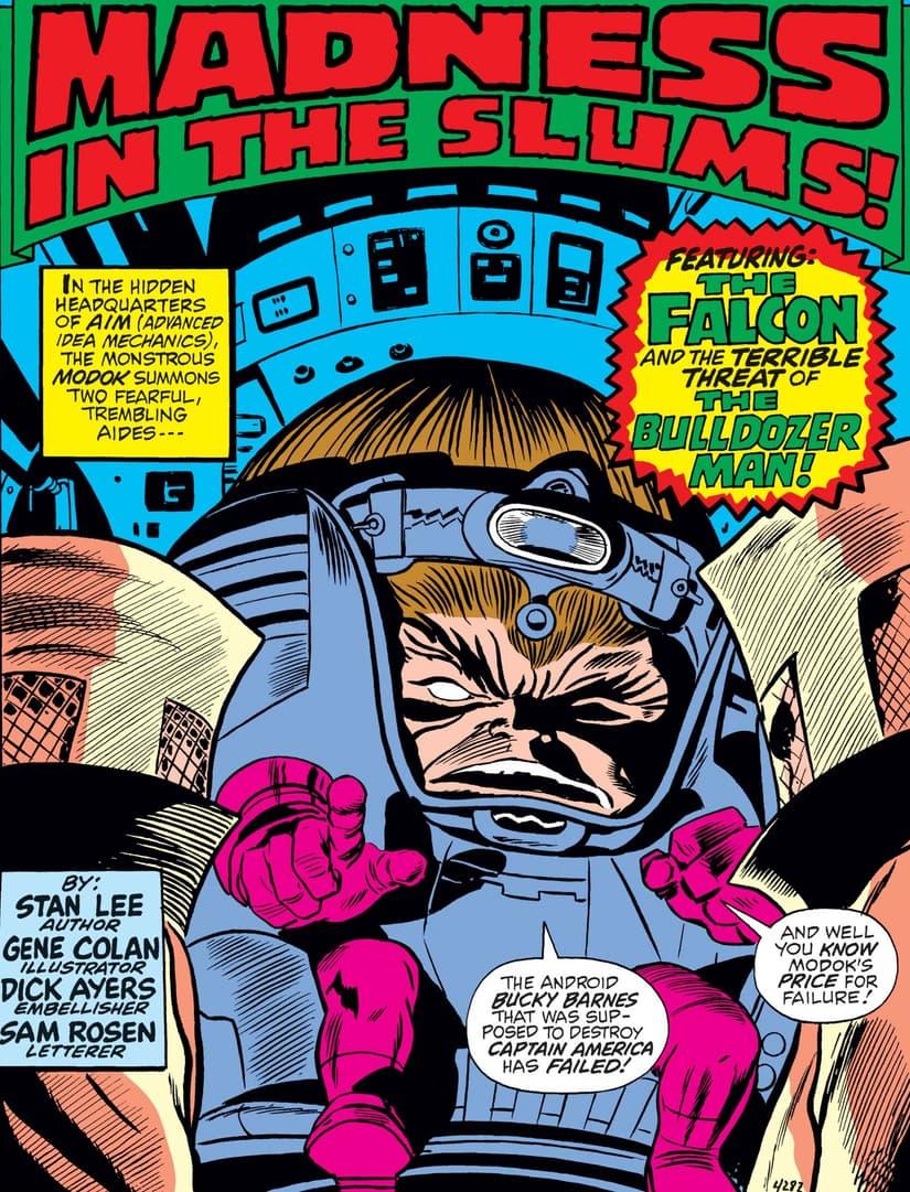 MODOK nelle pagine di CAPTAIN AMERICA (1968) # 133.