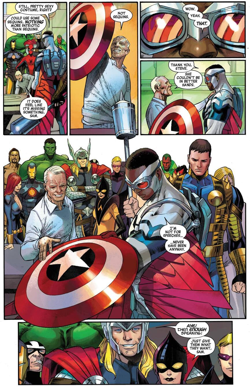 The new Captain America is named in CAPTAIN AMERICA (2012) #25.
