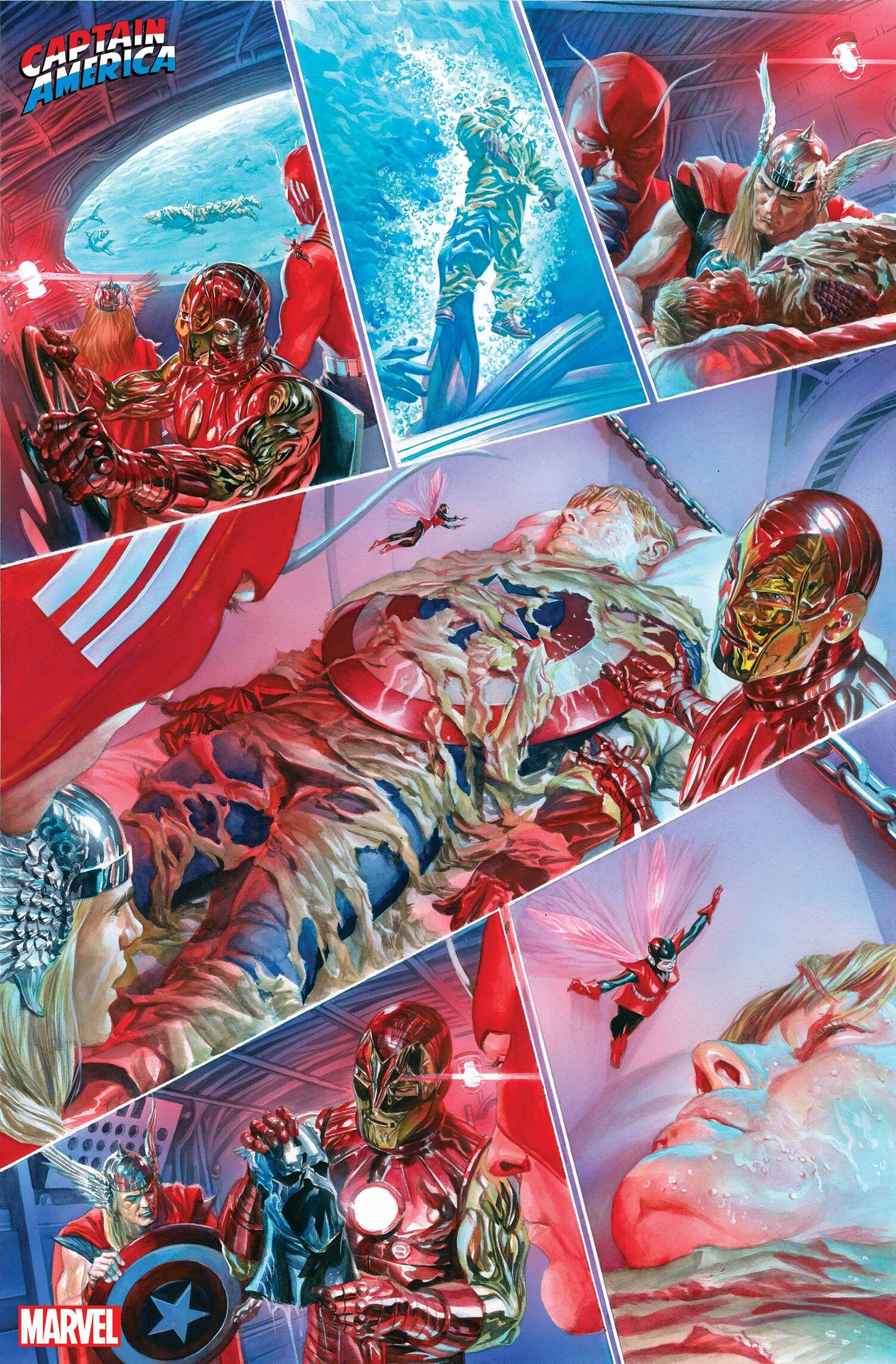 CAPTAIN AMERICA TRIBUTE #1 preview art by Alex Ross