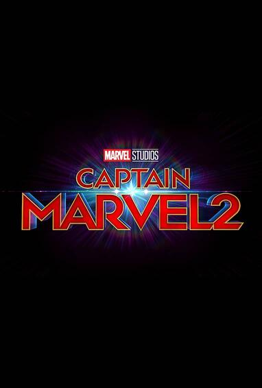 Marvel Studios Captain Marvel 2 Movie Logo on Black