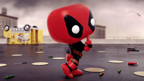 Image for Deadpool Faces Off Against Venom in New Animated Short