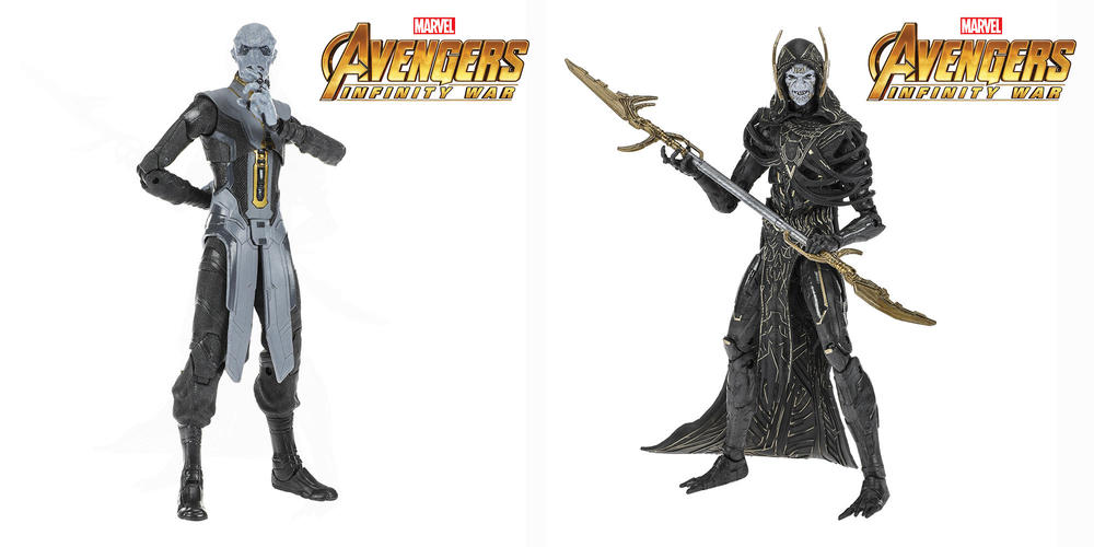 Marvel Legends Ebony Maw and Corvus Glaive Figures