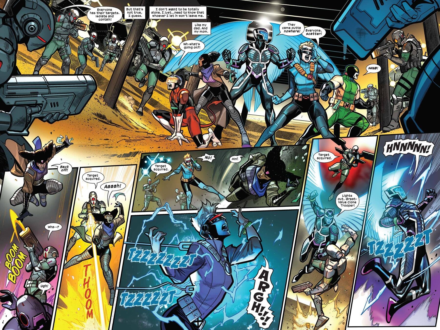 """The kids face a """"security"""" squad in CHILDREN OF THE ATOM (2021) #4!"""
