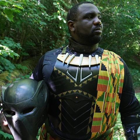 C.J. Hayes as Black Panther