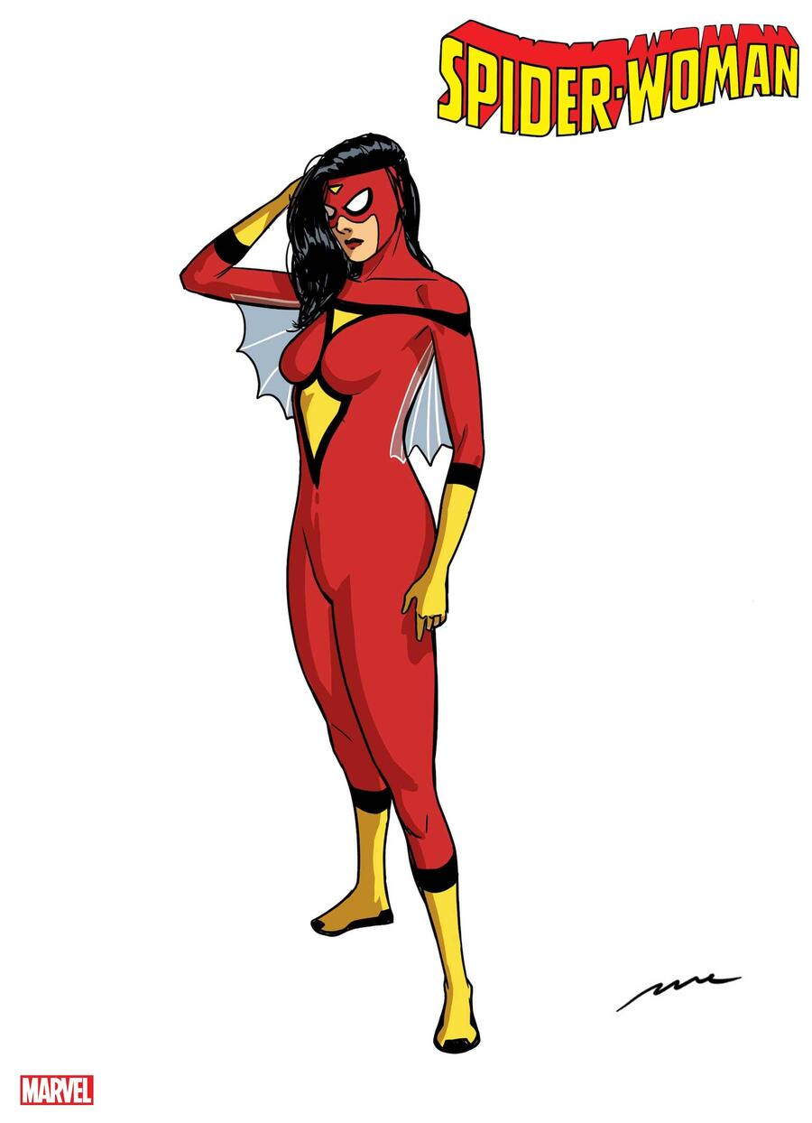 Spider-Woman design sheet by Pere Pèrez
