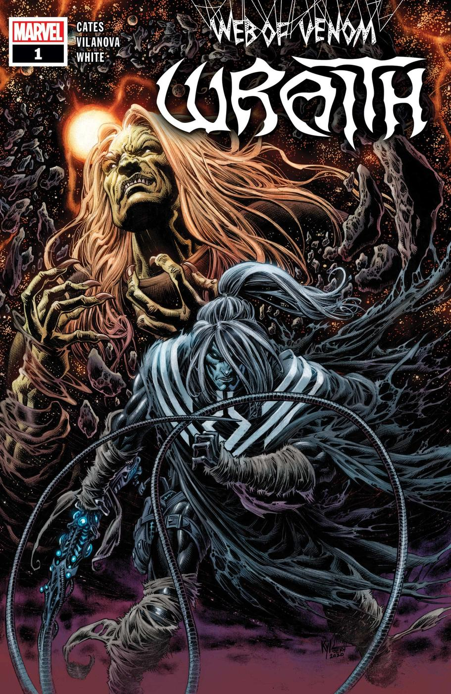 WEB OF VENOM: WRAITH #1 cover by Kyle Hotz and Dan Brown