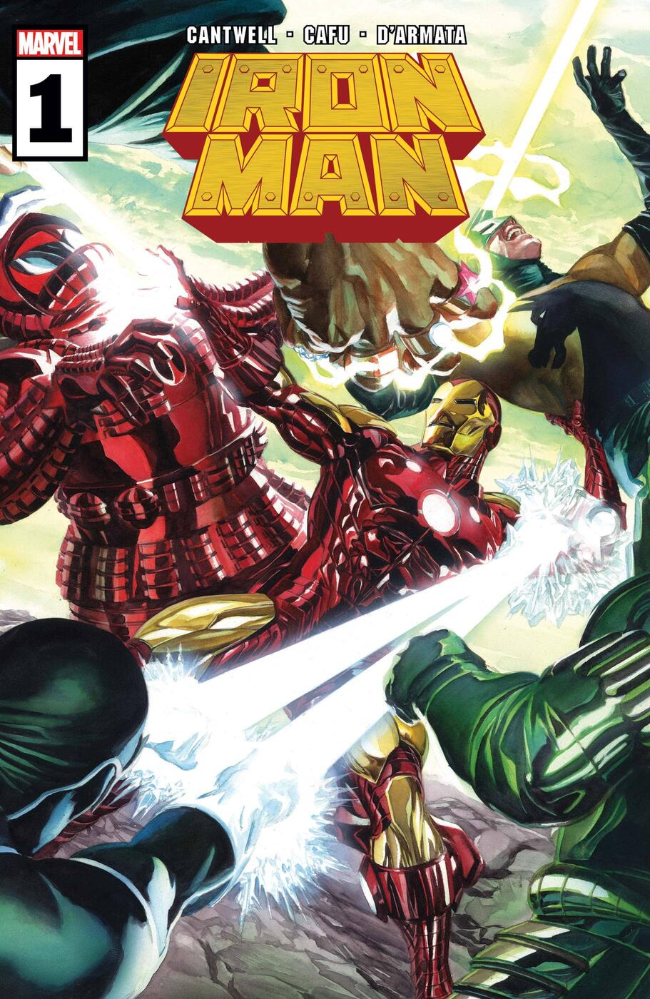 IRON MAN #1 cover by Alex Ross