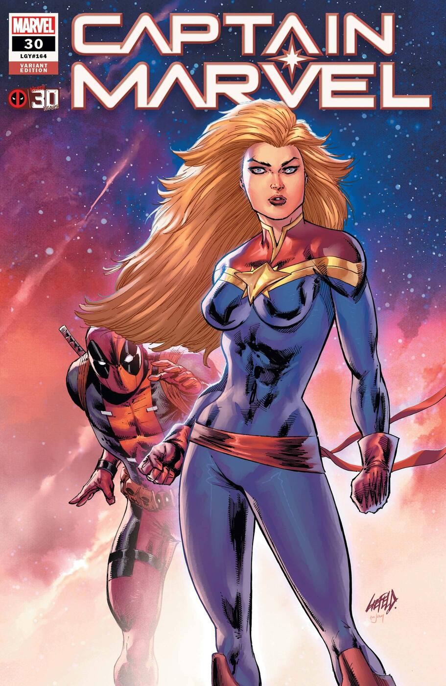 CAPTAIN MARVEL #30 variant cover by Rob Liefeld