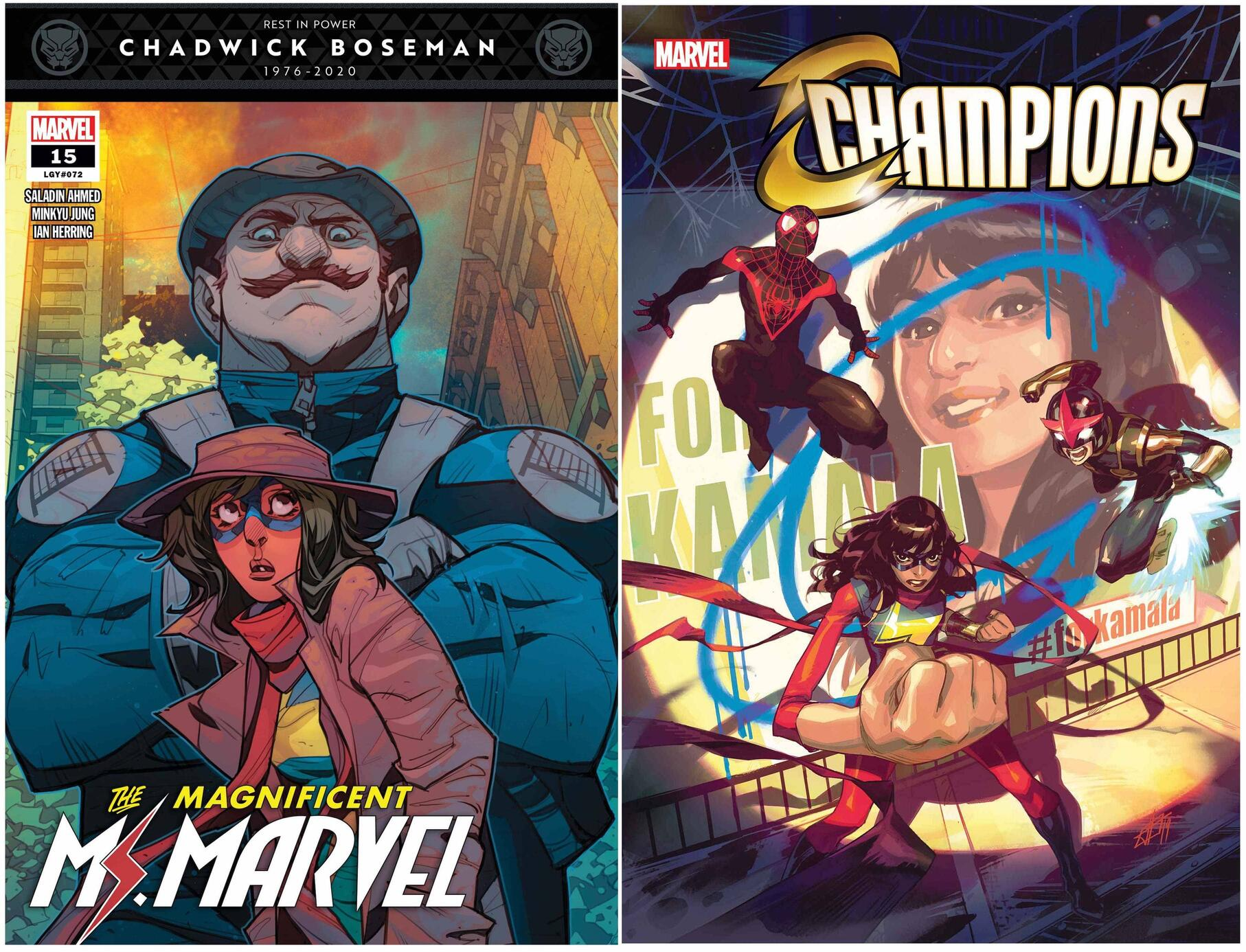MAGNIFICENT MS. MARVEL #15 and CHAMPIONS #1