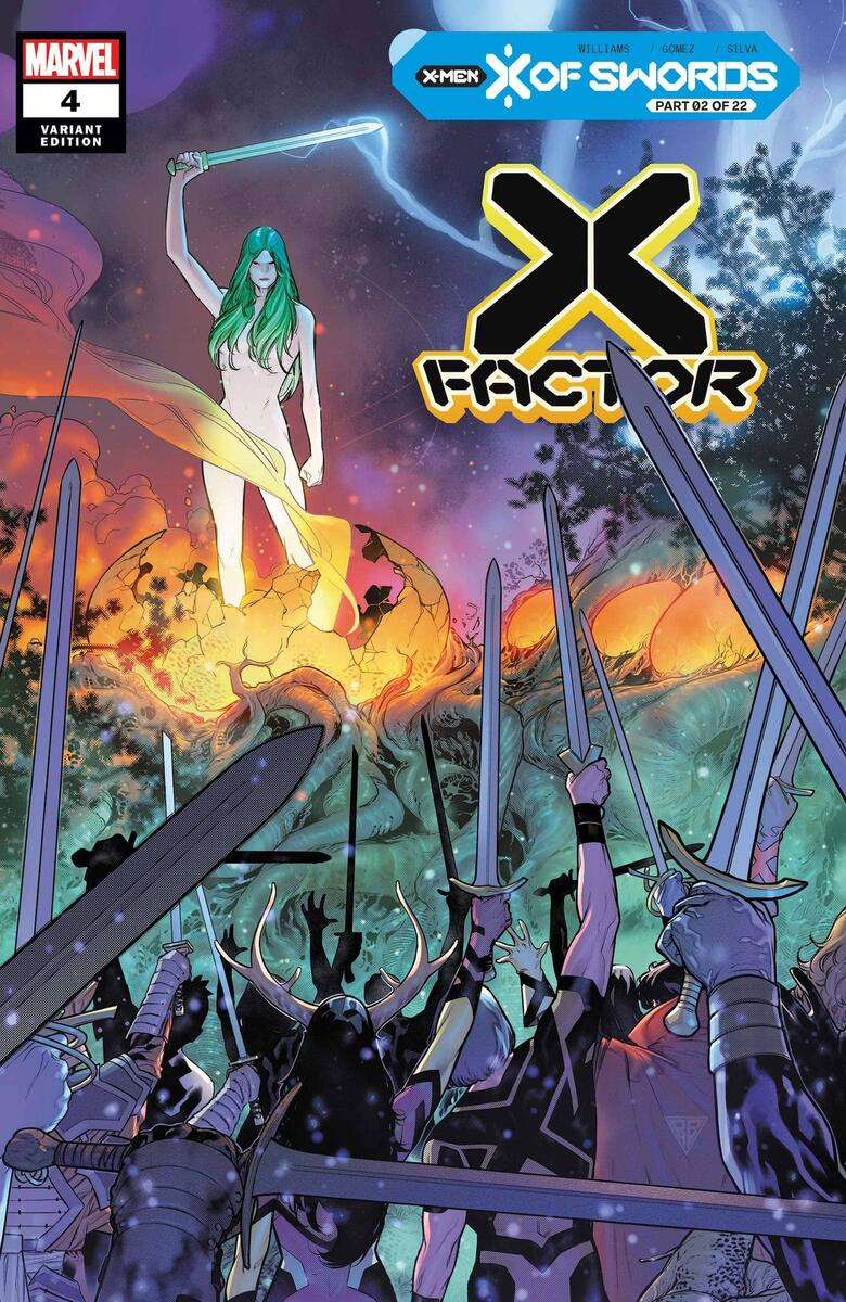 X-FACTOR #4 variant cover by R.B. Silva