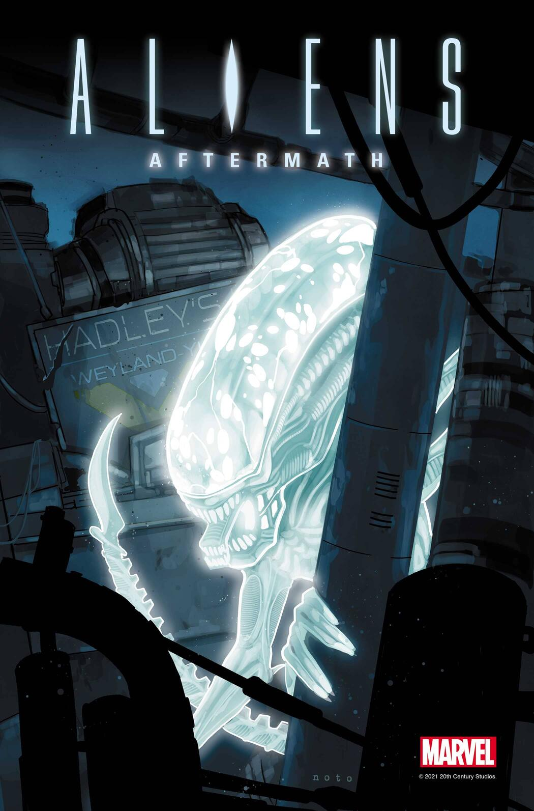ALIENS: AFTERMATH #1 cover by Phil Noto