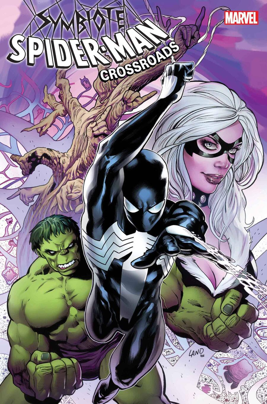 SYMBIOTE SPIDER-MAN: CROSSROADS #1 cover by Greg Land