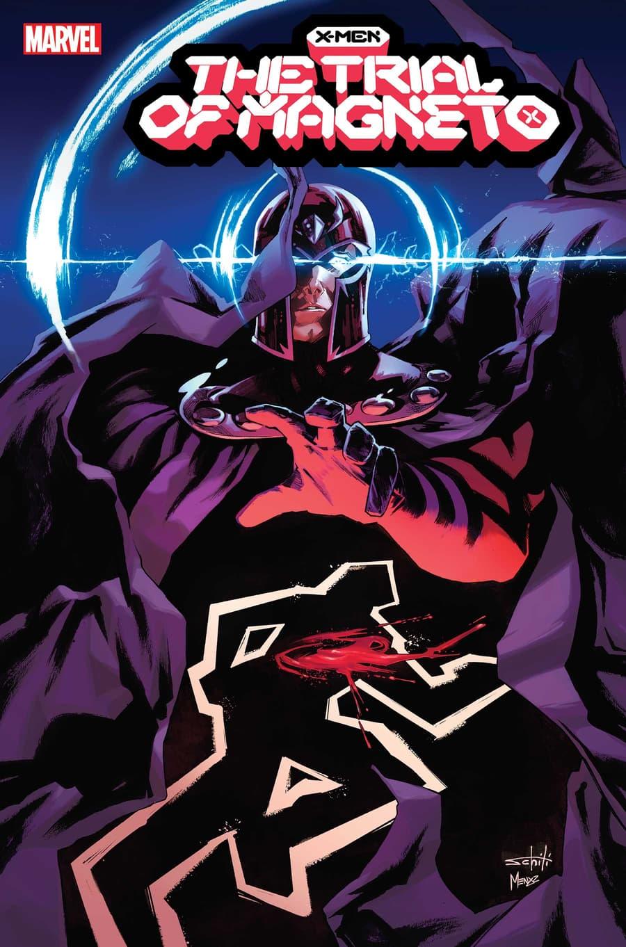 X-MEN: THE TRIAL OF MAGNETO #1 cover by Valerio Schiti