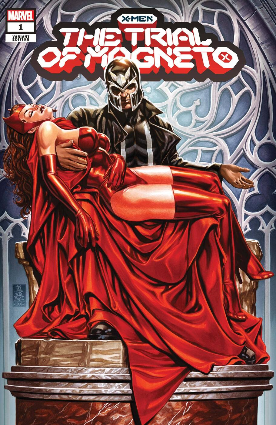 X-MEN: THE TRIAL OF MAGNETO #1 variant cover by Mark Brooks