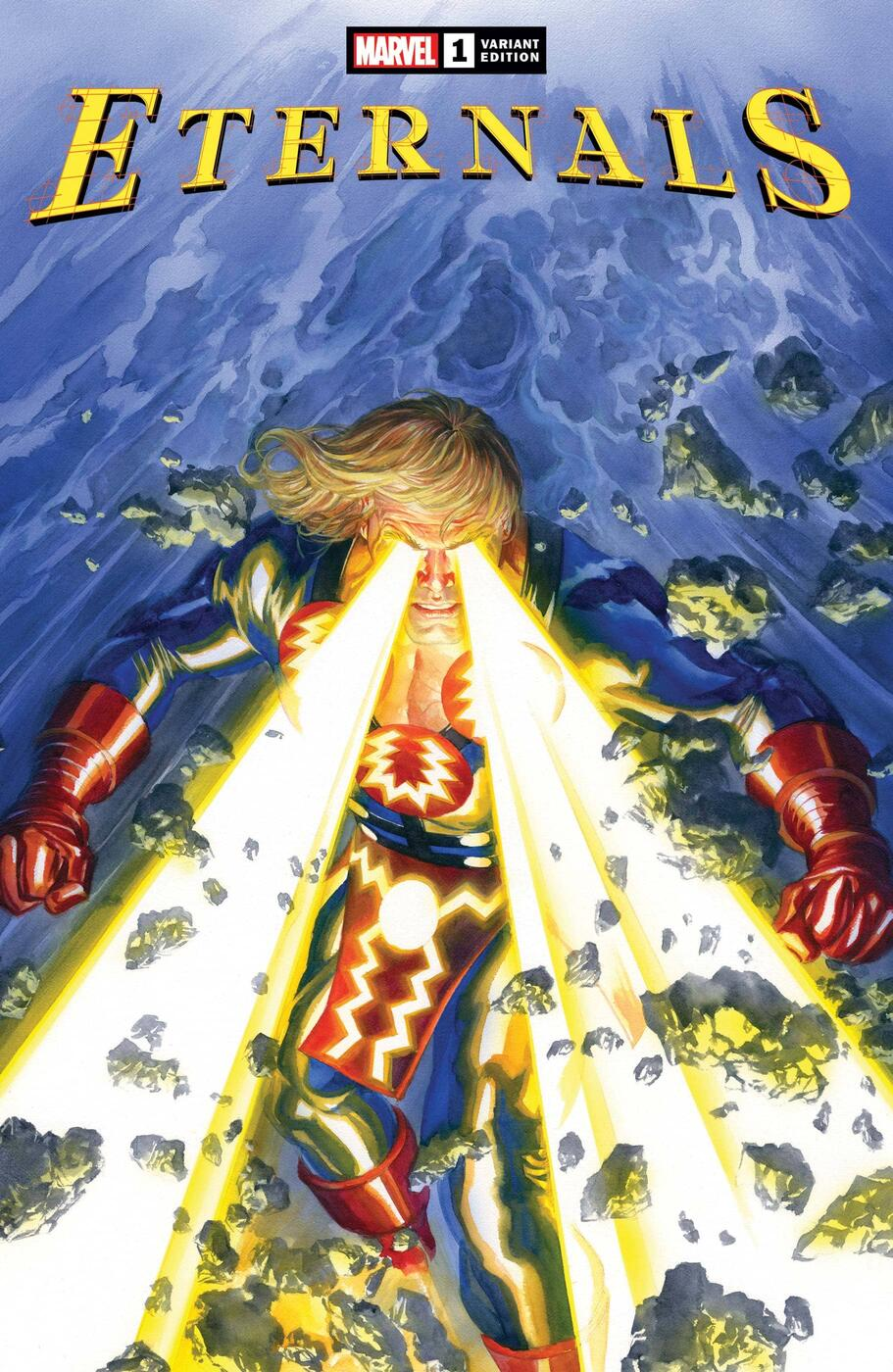ETERNALS #1 variant cover by Alex Ross