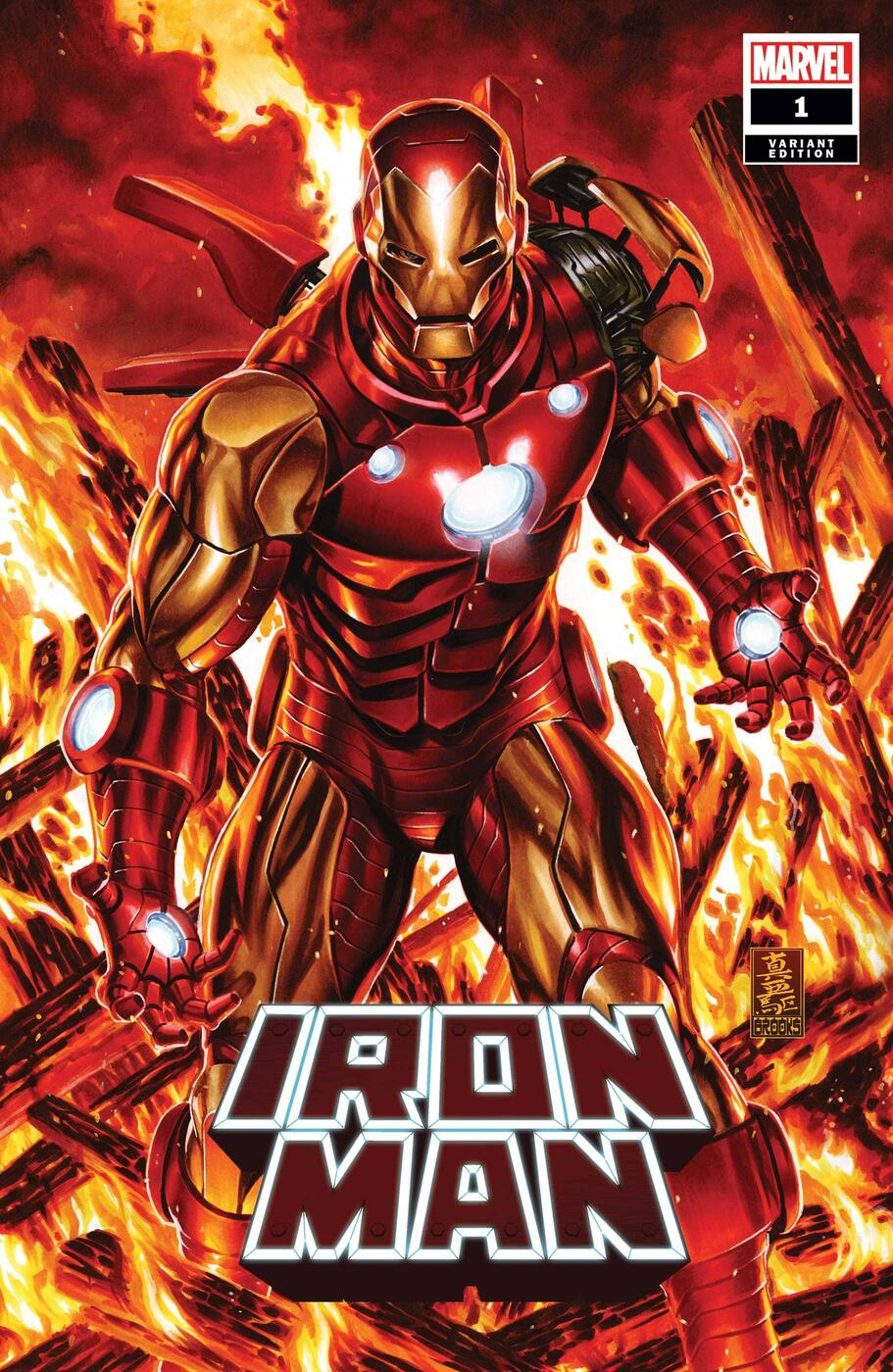 IRON MAN #1 variant cover by Mark Brooks