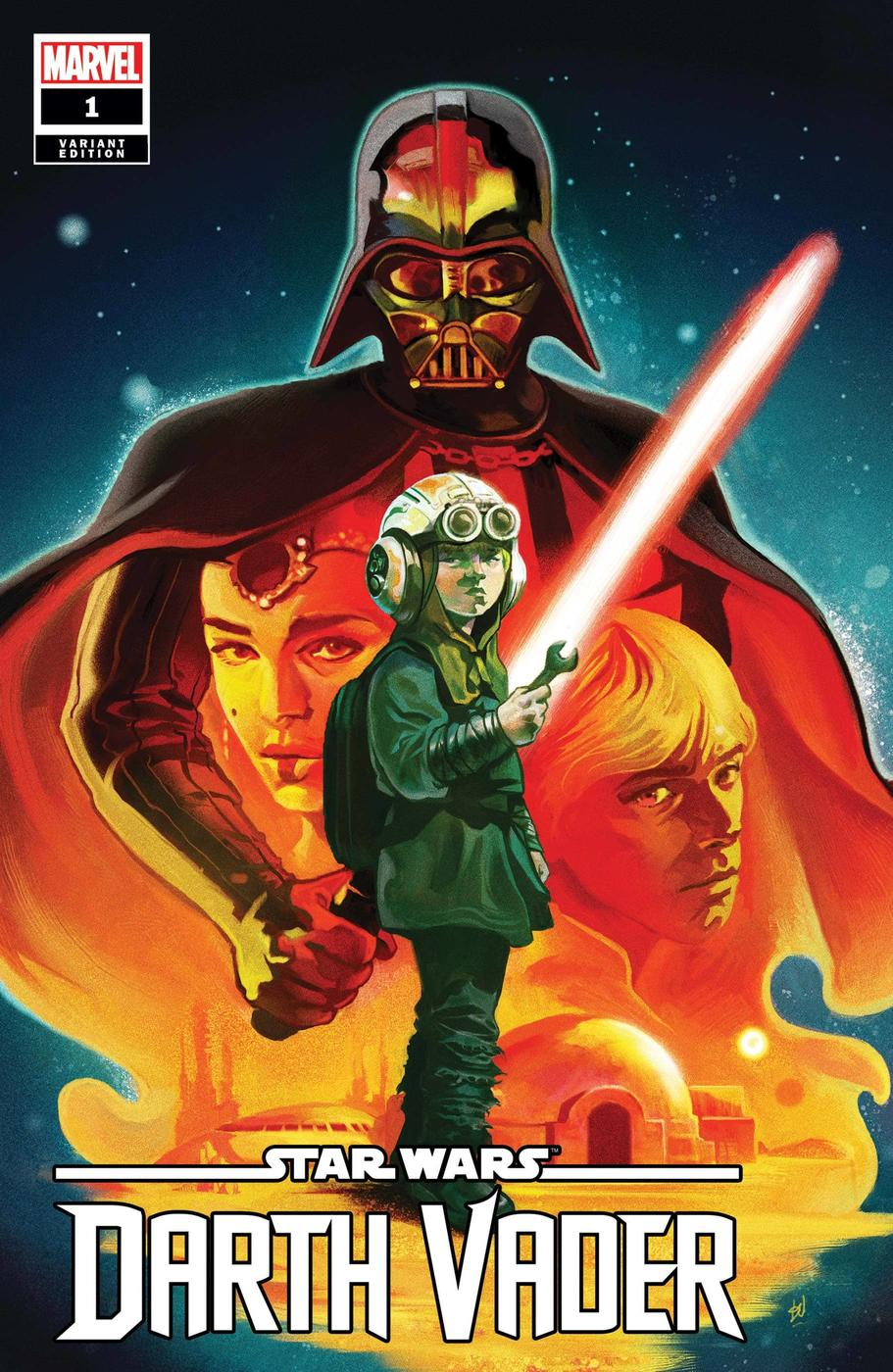 STAR WARS: DARTH VADER #1 variant cover by Mike Del Mundo