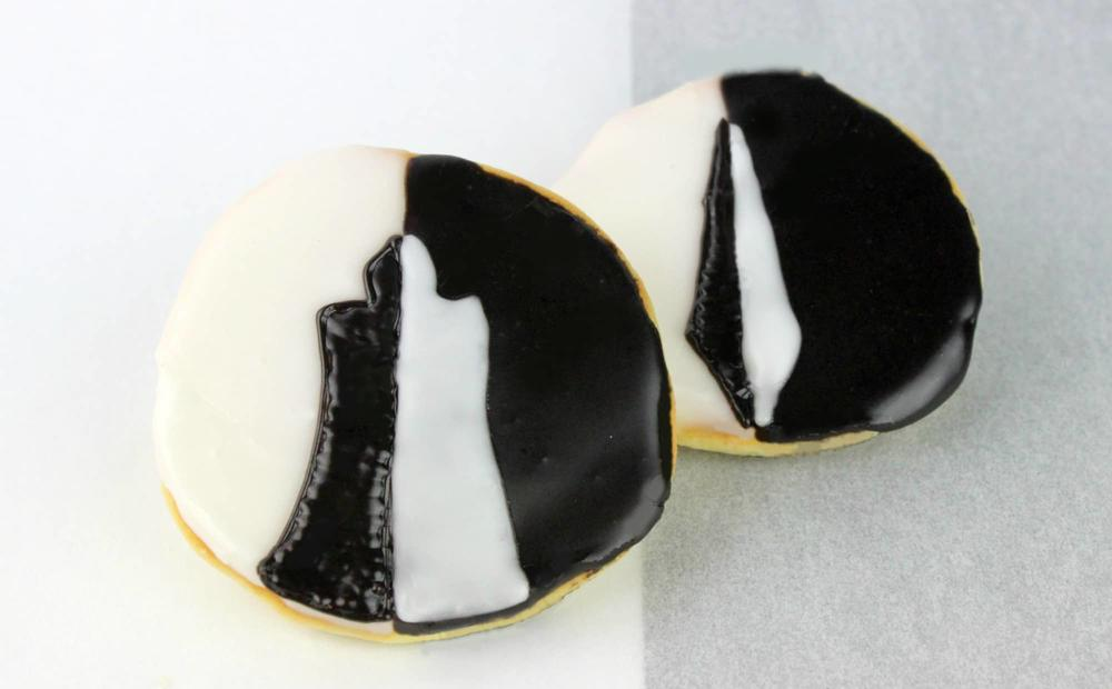 Cloak and Dagger Black/White Cookies