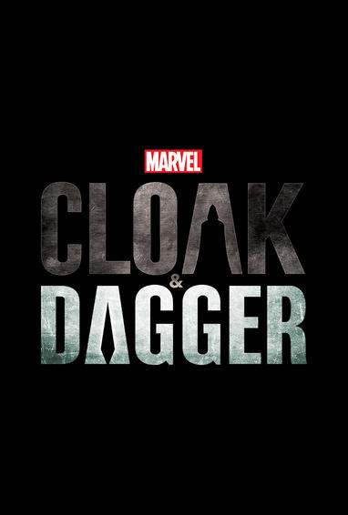 Marvel's Cloak and Dagger TV Show Logo On Black