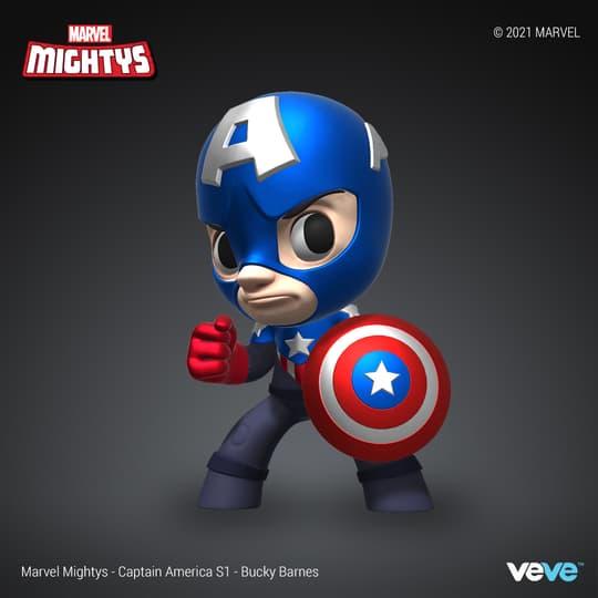 Marvel Mightys - Season 1 - Captain America -Bucky Barnes - RARE