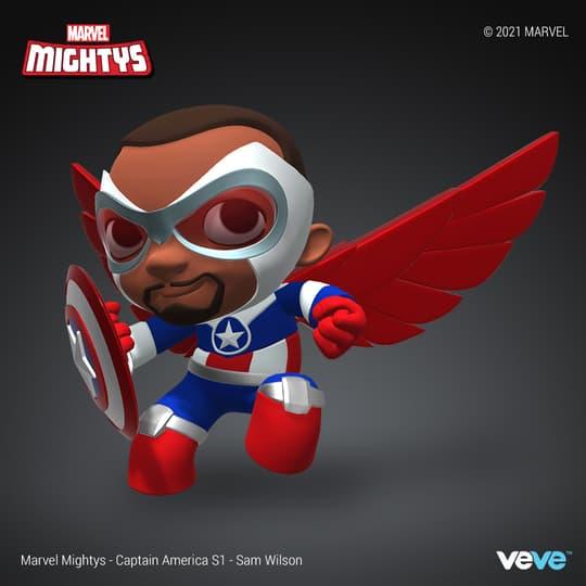 Marvel Mightys - Season 1 - Captain America - Sam Wilson - COMMON