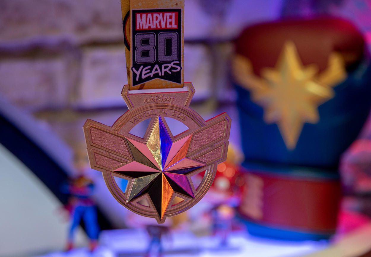 Captain Marvel RunDisney medal