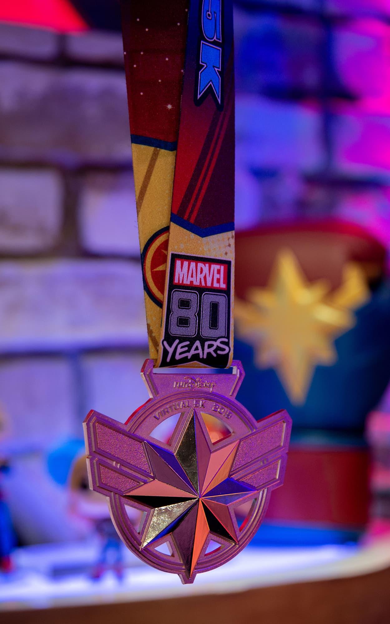 runDisney Captain Marvel medal