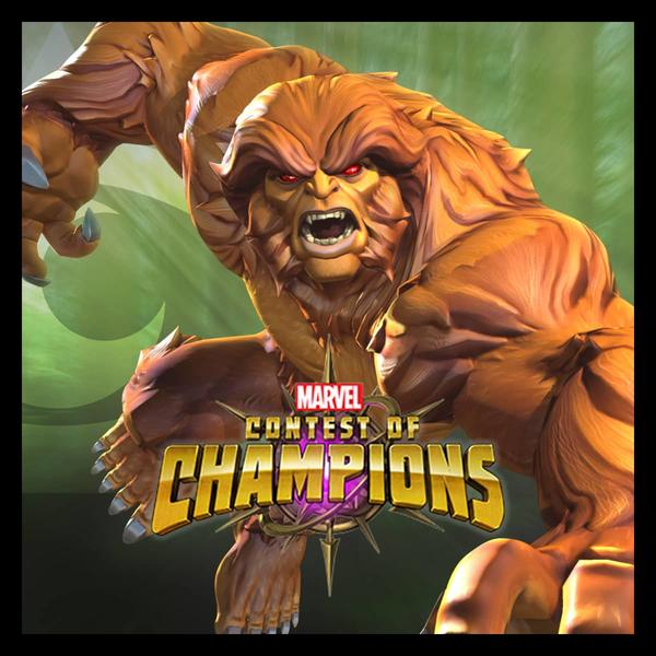 Marvel Insider Marvel Contest of Champions Missing Links Tournament Sasquatch Bundle
