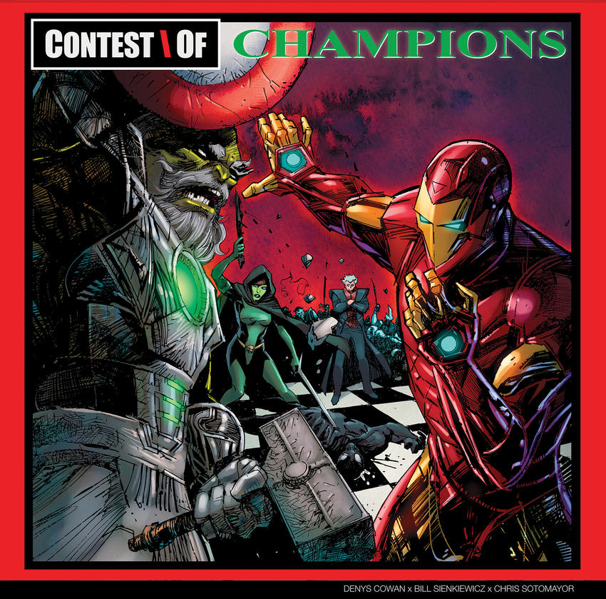 "Cover art: Iron Man dueling Maestro, mirroring the cover of GZA's second studio album, ""Liquid Swords"""