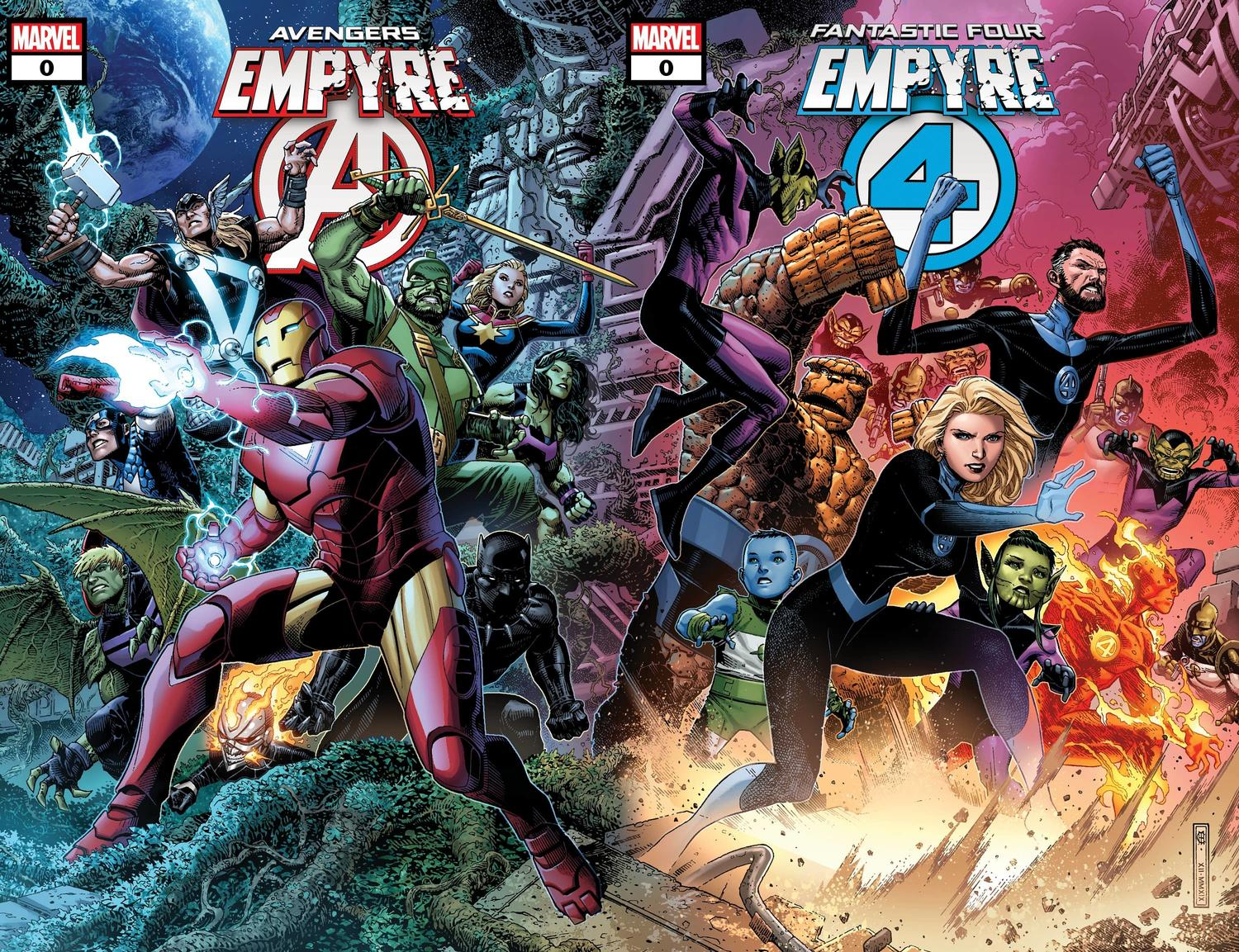 EMPYRE #0: AVENGERS and EMPYRE #0: FANTASTIC FOUR